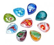 Millefiori droppar 13x18 mm 5-pack
