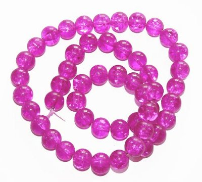 "Cerise ""crackle"" 8 mm"