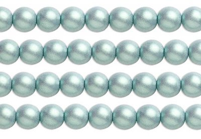 Grön satinpärla 4 mm 40-pack