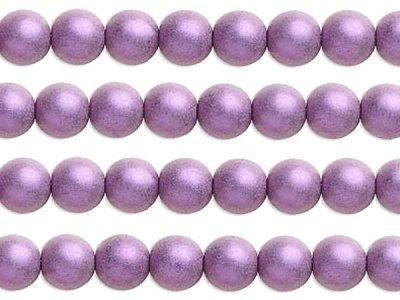 Lila satinpärla 8 mm 10-pack