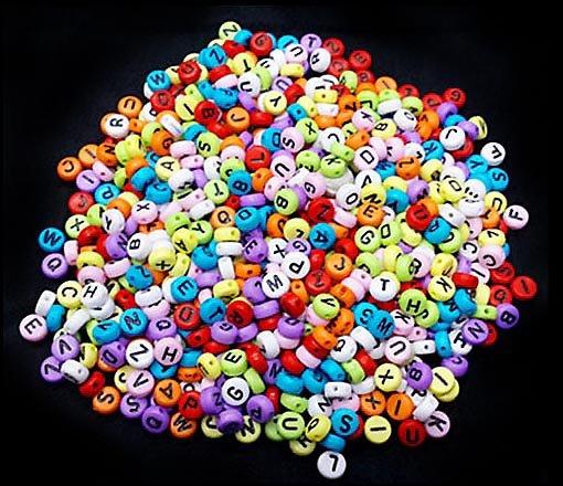 pärlor bokstäver billigt